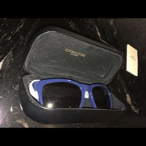 SOLD FOR 75$ COACH Blue Ray Ban Style Sunglasses